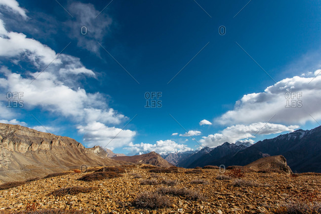 Landscape from the Higher region of Spiti in Himachal Pradesh, India