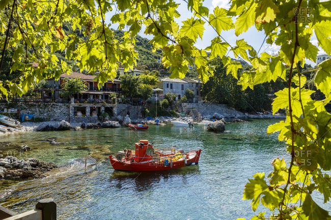 Damouchari Harbor in Pelion peninsula, Greece