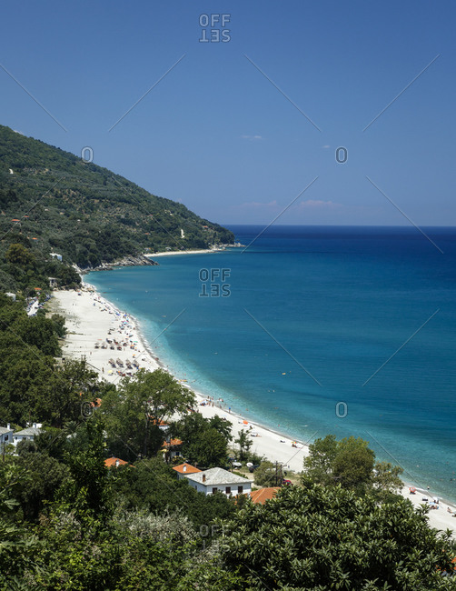 Horefto beach in Pelion peninsula, Greece