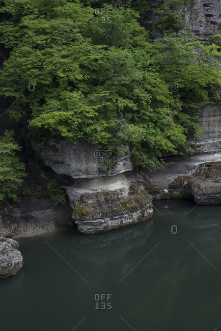 Volcanic rock formations in Shimogo, Fukushima Prefecture, Japan