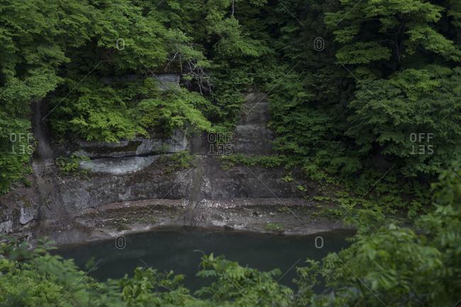 Steep-walled Tonohetsuri Ravine, in Shimogo, Japan