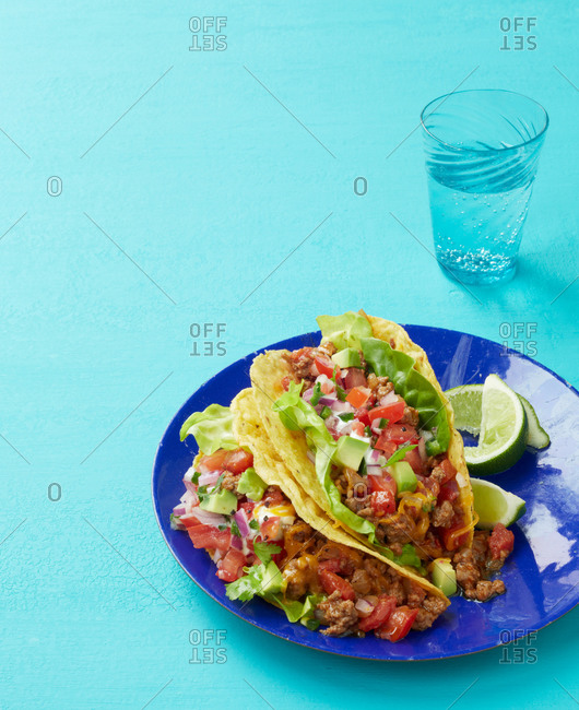 Two beef tacos