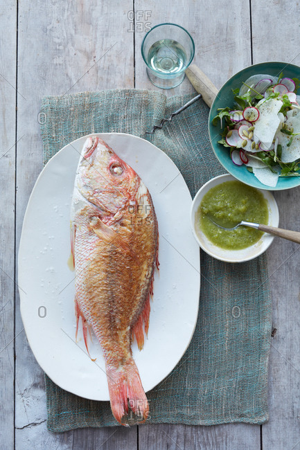 Red snapper with lime sauce