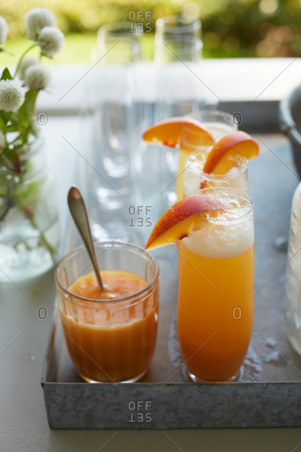 Tray of bellinis