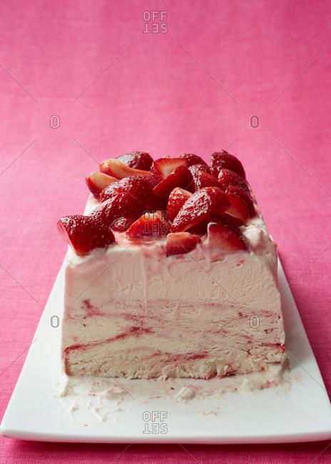 Strawberry terrine dessert