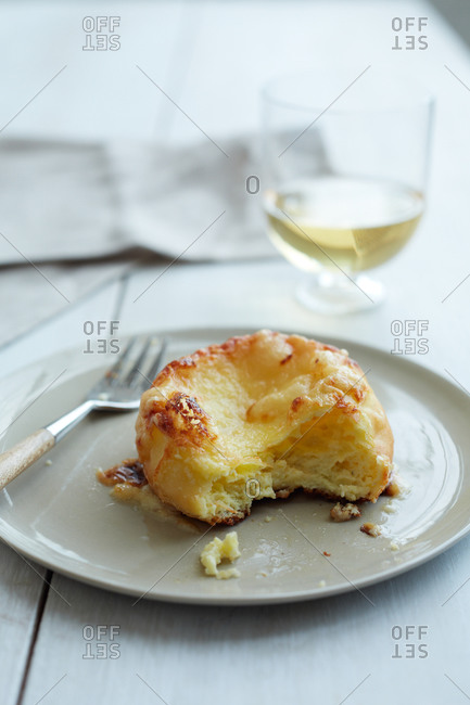 Close up of a cheese souffle_
