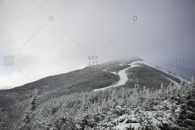 A ski slope in the Catskill mountains