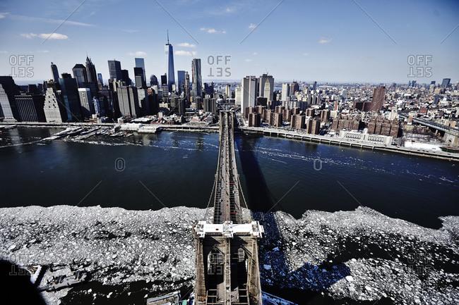 Brooklyn Bridge over East River