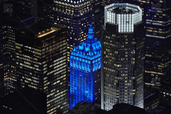 New York City, New York - December 6, 2010: Helmsley Building at night