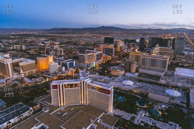 Las Vegas Neveda - January 7, 2015: Casinos of downtown Las Vegas