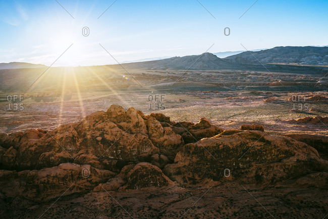 Nevada mountain landscape at sunrise