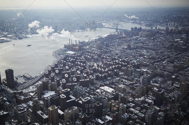 Manhattan and Brooklyn in winter