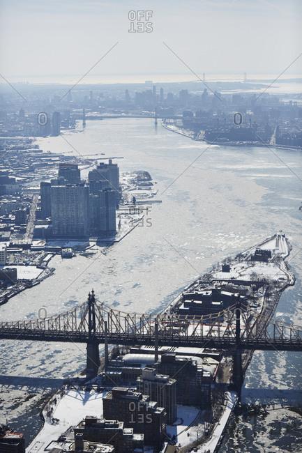 Roosevelt Island in winter