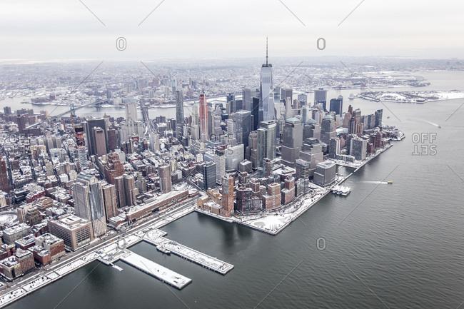 Winter in lower Manhattan
