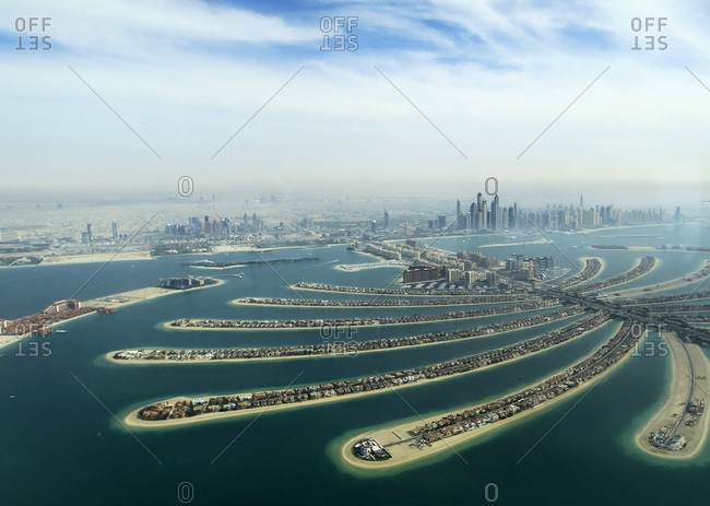 Artificial archipelago development in Dubai
