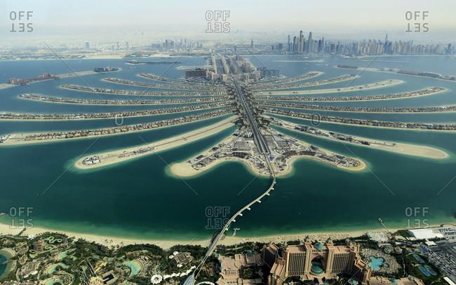 Palm Jumeirah development in Dubai