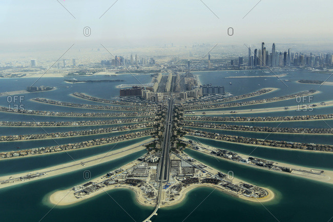 Palm Jumeirah in Dubai, UAE