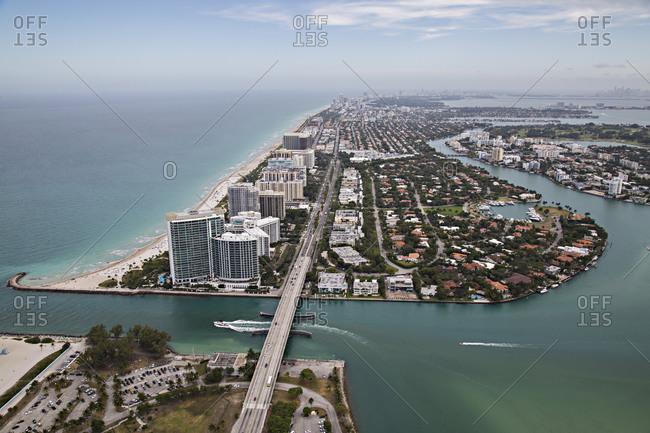 Coastal Miami highway