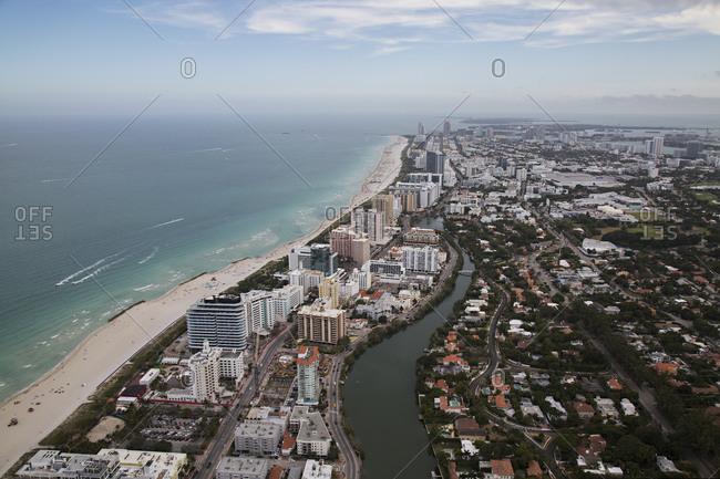Beachfront developments in Miami
