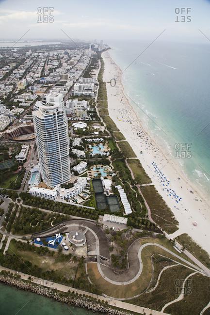 Beachfront high rise in Miami