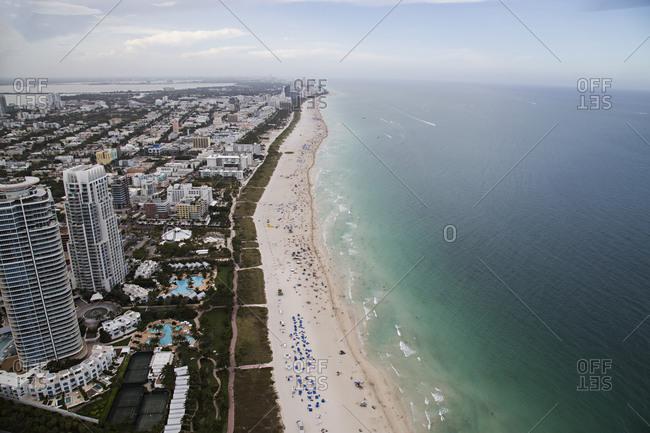 Beachfront and developments in Miami