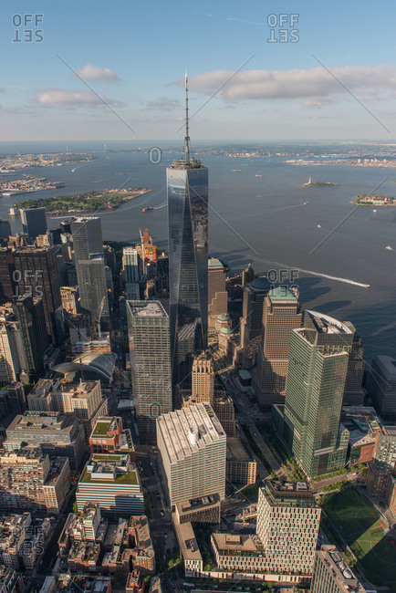 New York City, New York - May 20, 2015: One World Trade Center in Manhattan