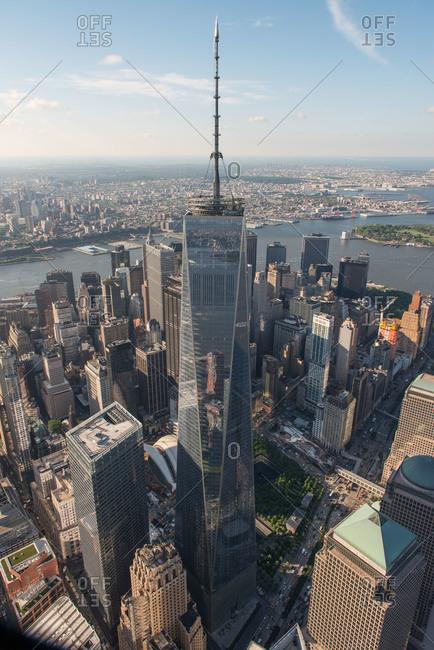 New York City, New York - May 20, 2015: One World Trade Center