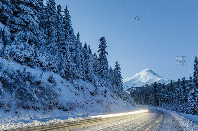 Mount Hood at dusk - Offset