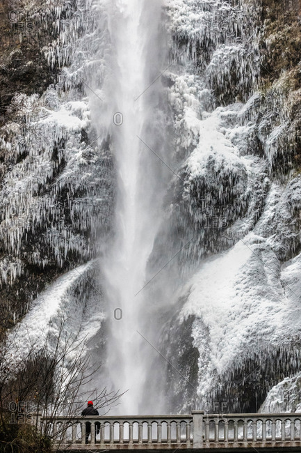 Multnomah Falls in the winter