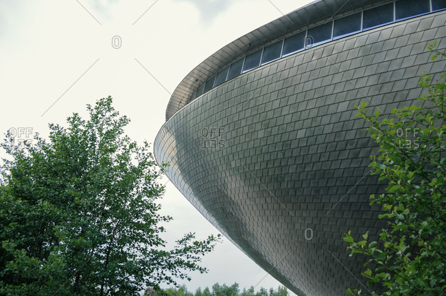 Bremen, Germany - May 27, 2010: Detail of the Universum Science Center museum known as The Whale in Bremen, Germany, Europe - architect Thomas Klumpp, Germany