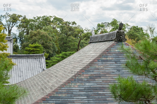 Roof top of Japanese building