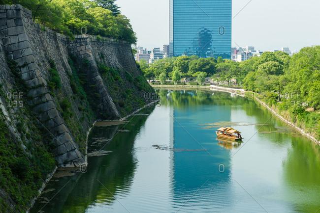 Waterway of Osaka Castle, Japan