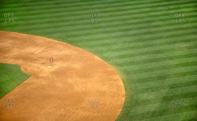 Baseball field, second base - Offset