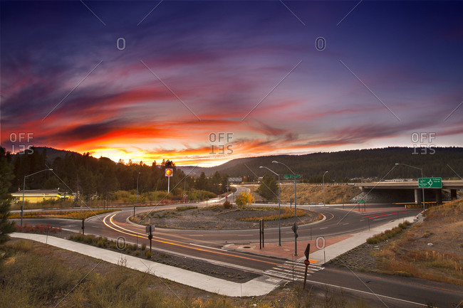 Interstate 80 and CA State Route 89 Intersection Roundabout, Truckee, California