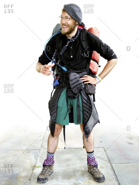 Portrait of an Appalachian Trail hiker taken at Trail Days in Damascus, VA
