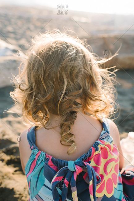 Blond curls of a little girl