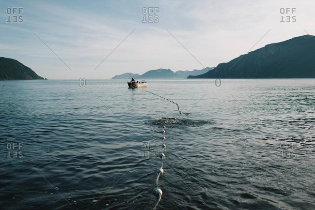 Fisherman returning to the shore