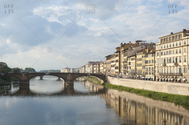 A bridge over the Arno in Florence, Italy