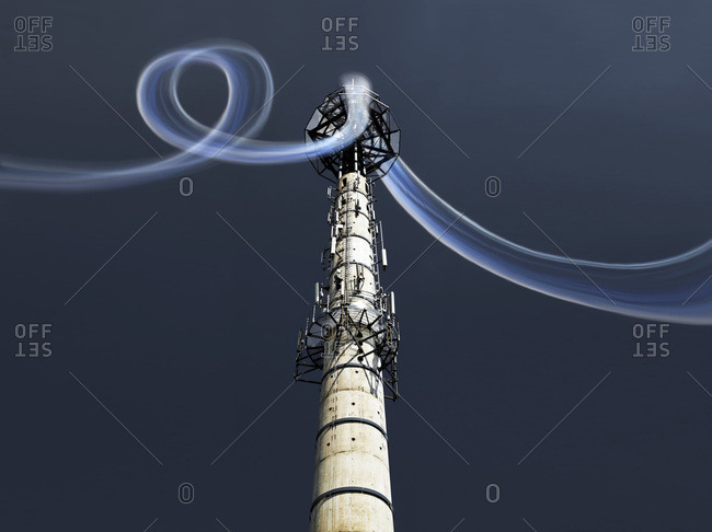 Radio tower with data stream