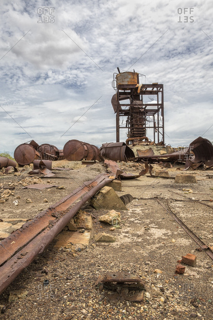 Abandoned gold mine near Cloncurry, Western Queensland, Australia
