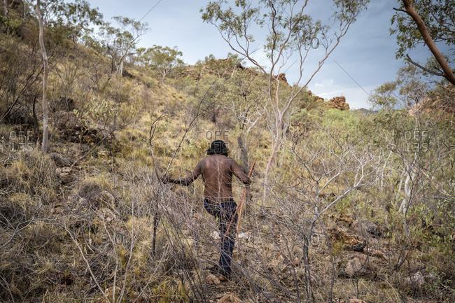 Man hunting in Western Queensland, Australia
