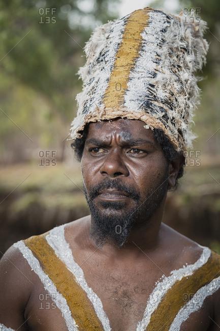Cloncurry, Queenstown, Australia - January 27, 2014: Marrinyama Man in Western Queensland, Australia