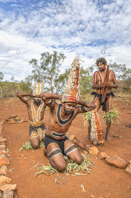 Cloncurry, Queenstown, Australia - January 27, 2014: Native Australians performing traditional dance