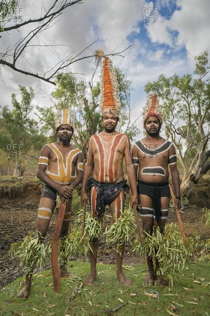 Cloncurry, Queenstown, Australia - January 27, 2014: Men of the 'The Kangaroo Society' in Australia