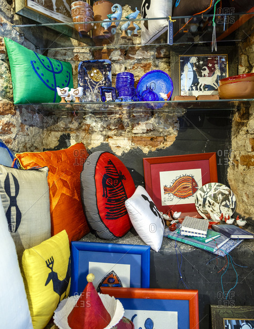 Istanbul, Turkey - November 21, 2014: Decor objects on display in the Atoyle 11 store
