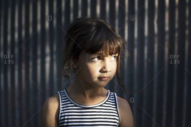 Little girl in sunlight - Offset