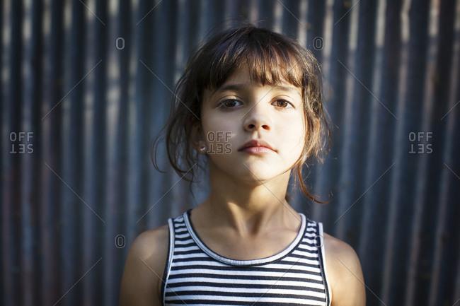 Portrait of a girl in sunlight