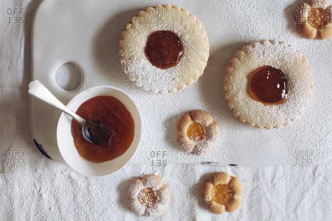 Thumbprint cookies from the Offset Collection