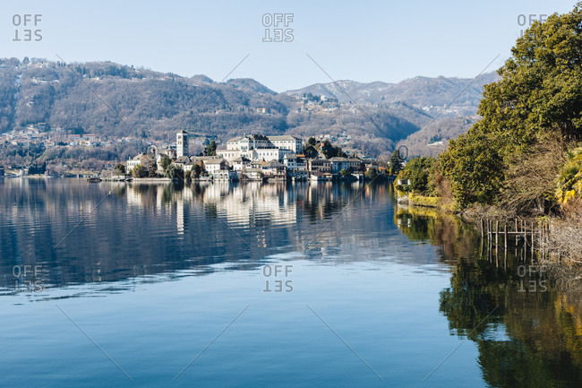 Isola San Giulio in Lake Orta, Italy