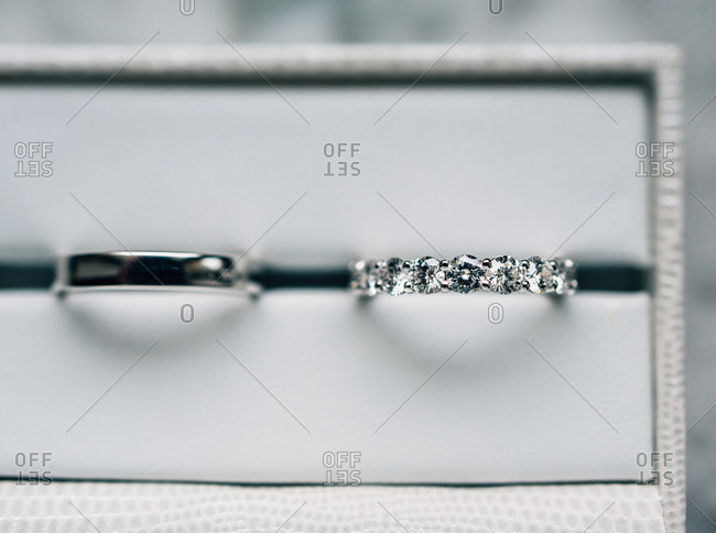 Close up of a pair of wedding rings